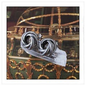Sterling Silver Italian Love Knot Earrings